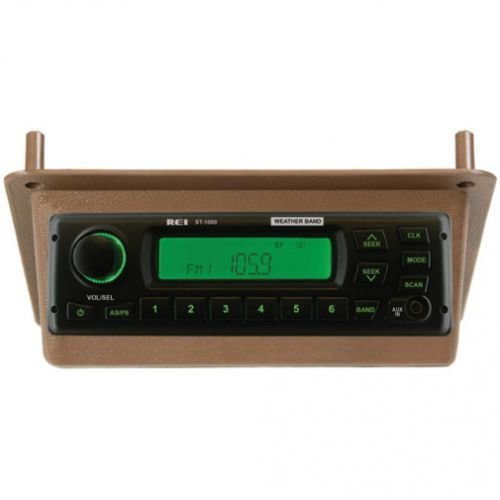 All States Ag Parts Radio Kit AM/FM/WB/AUX Stereo Brown Compatible with John Deere 4850 4050 8650 8850 8450 4250 4650 4450 TY15279