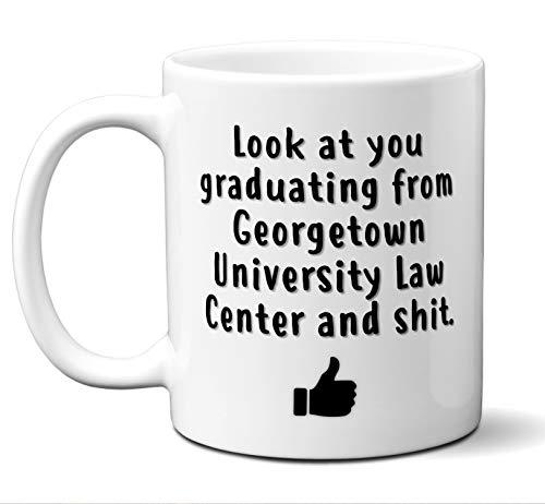 Law School Graduation Gift Coffee Mug, Tea Cup. Georgetown University Law Center. Student Grad Idea JD Graduates, Women, Men, Him, Her Class 2019. Funny Academic Degree Congratulations. 11 oz.
