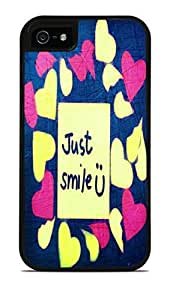 Just U Smile Black 2-in-1 Protective Case with Silicone Insert for Apple iPhone 5 / 5S