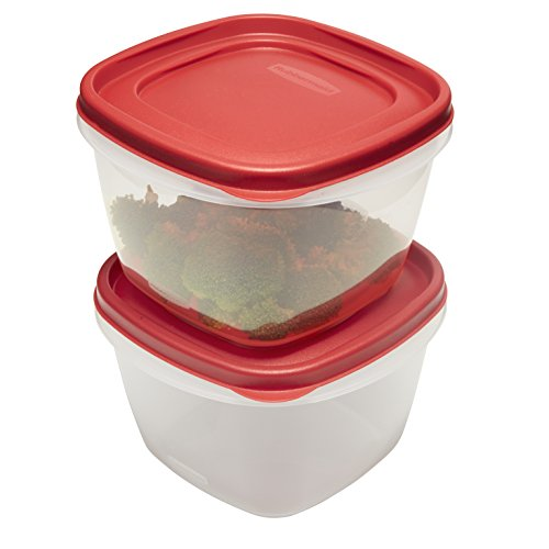 - Rubbermaid Easy Find Lids Food Storage Containers, 7 Cup, Racer Red, 4-Piece Set1777181
