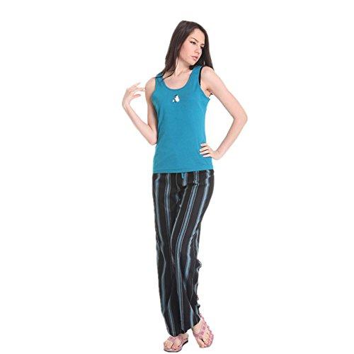 Purple Leisure Suit Adult Costumes (DMMSS Ladies Vest + Trousers Home Service 2 - Piece Sets Of Summer Cotton Leisure Pajamas Suit , Yellow , S)