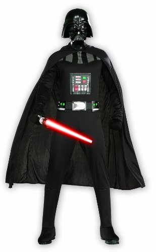 Tv Star Fancy Dress Costumes (Star Wars Adult Darth Vader Set, Black, Plus)
