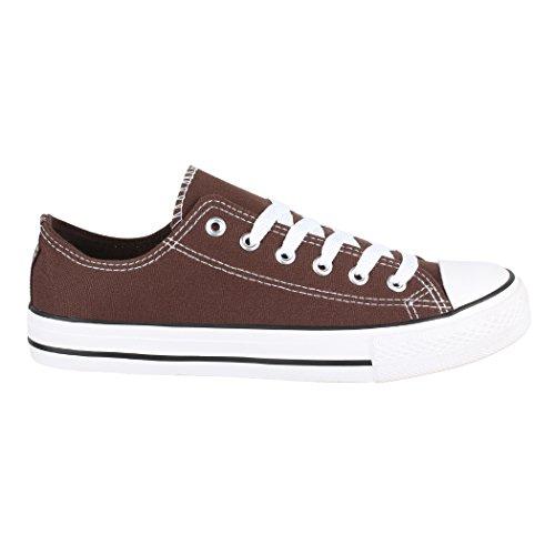36 Sportschuhe Textil Elara Brown Größer Sneaker und Herren Schuhe Damen Unisex Turnschuh für Nummer Aus Basic Low 46 Eine Bequeme Fällt Top fwqBwOSF