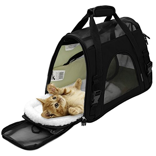 Paws Amp Pals Airline Approved Pet Carriers W Fleece Bed