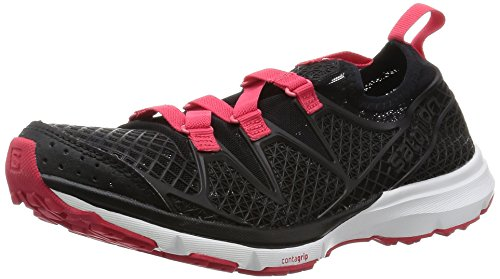Salomon Crossamphibian W, Zapatillas de Trail Running Para Mujer Negro (Black/Black/Lotus Pink)