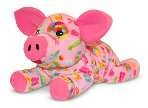 Melissa & Doug Becky Pig - Patterned Pal Stuffed (Becky Pig)