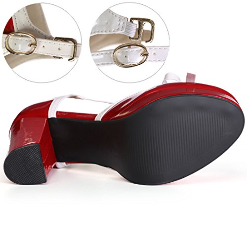 Plateforme Bar Allegra Red K Chaussures T Cour De Femme USzpqMV