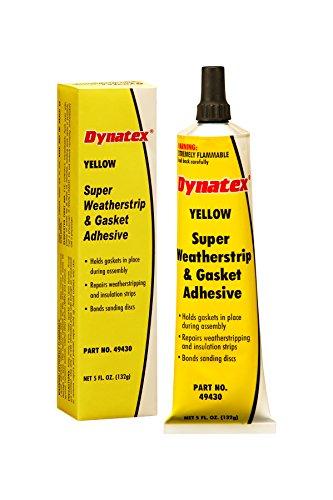 Dynatex 49430 Super Weatherstrip and Gasket Adhesive, 5 oz Tube Boxed, (Yellow Weatherstrip Adhesive)