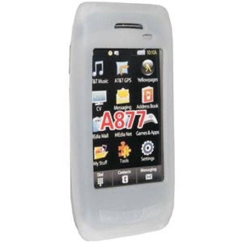 (Amzer Silicone Skin Jelly Case for Samsung Impression A877 - Lilly White)