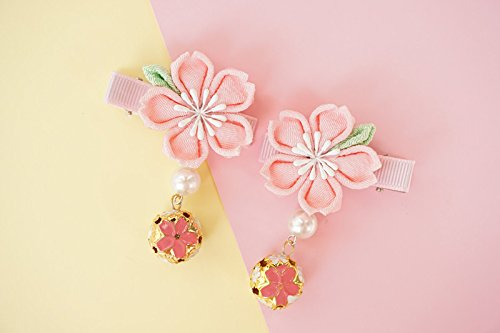 Ornament Pearl Bell - usongs Crepe kimono bathrobes hair ornaments and wind bells pearl hairpin headdress ribbon archaic Chinese clothing