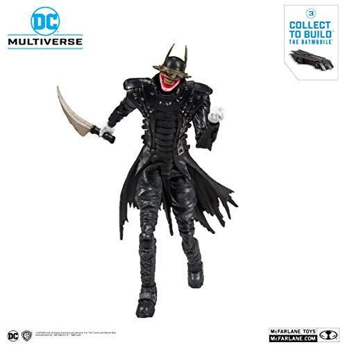 McFarlane Toys - DC Multiverse - Batman Who Laughs Action Figure with Build-A Rebirth Batmobile (Piece 3)