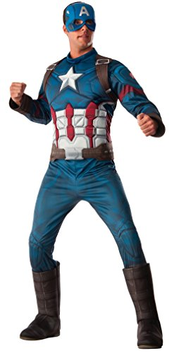 Superhero 2016 Costume Movie (Rubie's Costume Co. Men's Captain America: Civil War Deluxe Muscle Chest Costume, Multi,)