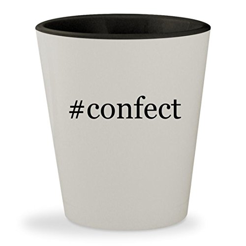 #confect - Hashtag White Outer & Black Inner Ceramic 1.5oz Shot Glass