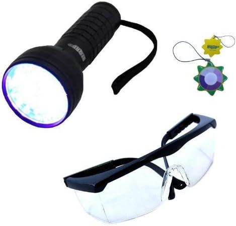 HQRP Profesional Linterna 9 LED UV Ultravioleta 365 nM Antorcha lampara