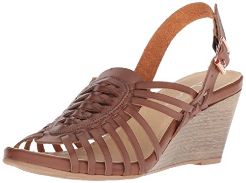 CL by Chinese Laundry Women's Heist Wedge Sandal, Rich Brown Burnished, 10 M US