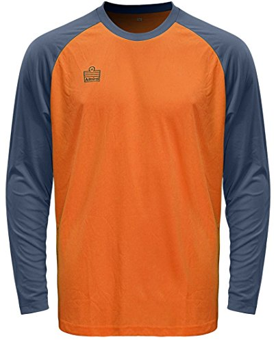 Admiral Sentry Goalkeeper Jersey, Fluorescent Orange/Steel, Adult Medium