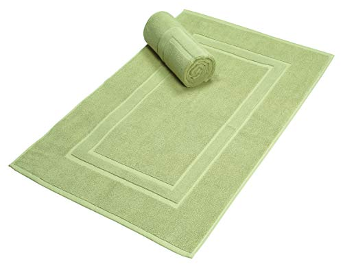 Premium Cotton 20x30 inch 2-Pack Bath Mats - 100% Ringspun Cotton - Luxury Hotel & Spa Quality - 800 GSM - Durable Soft Highly Absorbent - Machine Washable - Sage Green
