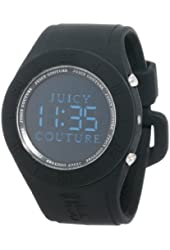 Juicy Couture Women's 1900884 Sport Couture Digital Black Jelly Strap Watch