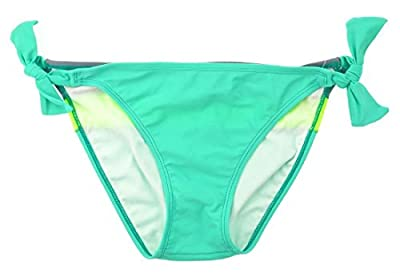 Junior Women's Side Tie Swim Bikini Bottom Size XL 15/17 - Colorblock Green