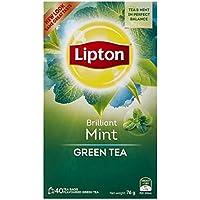 Lipton Green Tea Bag Mint 5x40 pack, 5 x 40 Pieces
