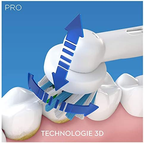 Oral-B Pro2 - 2000 - Brosse à Dents Électrique Rechargeable, 1Manche avec Capteur de Pression Visible, 1Brossette