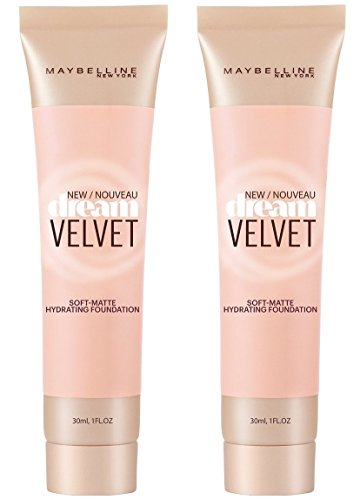 Maybelline Velvet Soft-Matte Hydrating Foundation- Classic Ivory (Pack of 2), 1 fl. oz. Each by Maybelline
