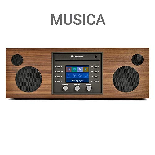Como Audio: Musica - Wireless Music System with CD Player, Internet Radio, Spotify Connect, Wi-Fi, FM, Bluetooth and One Touch Streaming - Walnut/Black (Best Wireless Internet Radio)