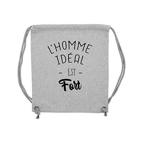 L'homme Gris Ideal Fort gym Coton Lmk Est Lookmykase Sac qw8XIqf