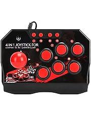 Joystick Arcade com fio, joystick de luta de jogos de arcade, acessórios para controle de jogo de computador para Switch/pc/PS3 Arcade Fight Stick