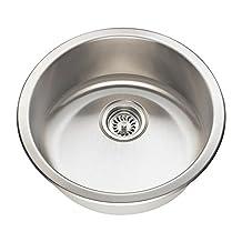 MR Direct 465 18-Gauge Dual-Mount Single Bowl Stainless Steel Bar Sink