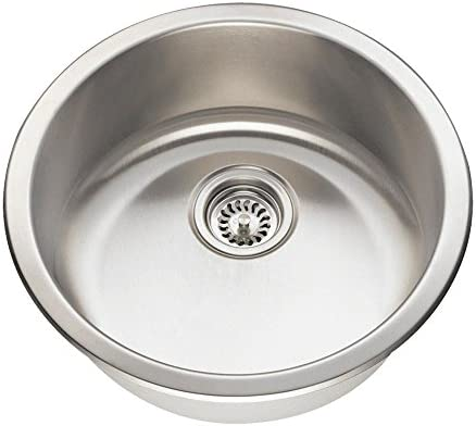 465 18-Gauge Dual-Mount Single Bowl Stainless Steel Bar Sink