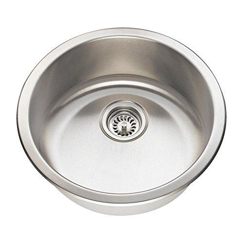 465 18 Gauge Dual Mount Single Bowl Stainless Steel Bar Sink