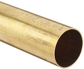 Brass 260 Precision Tube, Smooth Finish, Yellow/Orange
