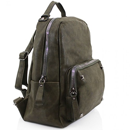 Cw186 A4 Handbags Bag School Girls Nice Bags Quality Rucksack Backpack Women's For 9047 Holiday Faux Leather Green Leahward 6wzZvdqpv