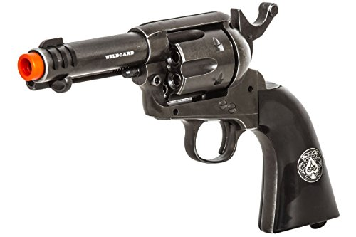 Elite Force Legends Wildcard Co2 Revolver Airsoft Gun (Silver) - Air Source Co2 Cartridges