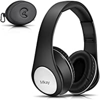 Bluetooth Headphones Over Ear, Mkay Hi-Fi Stereo Wireless Headset Bluetooth V4.2, Foldable with Mic, Wired and Wireless Headphones for Cell Phone/ TV/ PC/Travelling