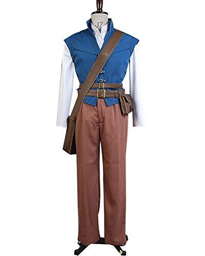 Sidnor Tangled Prince Flynn Rider Eugene Fitzherbert Cosplay Costume -