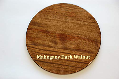 - 24 inch Wooden Lazy Susan Mahogany with Dark Walnut stain