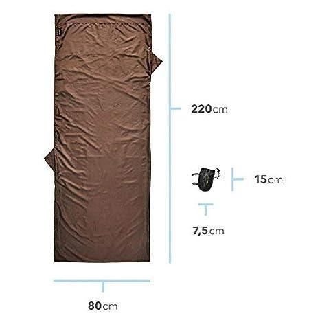 Lightdry Saco de dormir para interior albergue y caba/ña Ideal por ultra ligero saco de dormir de momia para hostel saco de dormir de viaje de microfibra Inlay