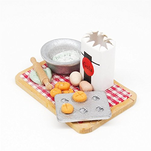 Odoria 1:12 Miniature Food Baking Scence Bread Making Set Dollhouse Kitchen Accessories