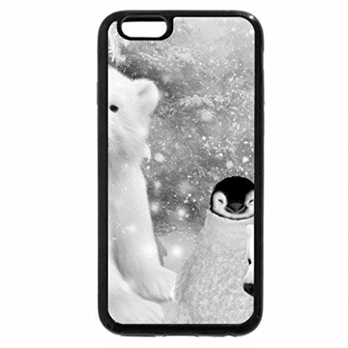 iPhone 6S Plus Case, iPhone 6 Plus Case (Black & White) - Winter Babies