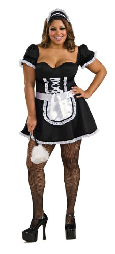 Secret Wishes Frenchie The Maid, Black, Plus (Frenchie Costumes)