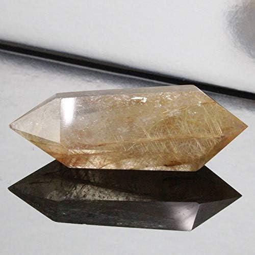 ルチルクォーツ ポイント Stone インテリア クラスター 原石 石 Point ポイント rutile quartz 金針水晶 魔除け 置物 浄化用 厳選 一点物 天然石 パワーストーン a18896