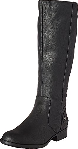 LifeStride Women's Xandy Riding Boot, Black, 11 M US