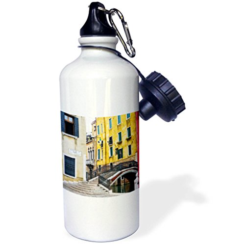 3dRose Danita Delimont - Cities - Italy, Venice, Back Canal of Venice - 21 oz Sports Water Bottle (wb_277684_1) by 3dRose