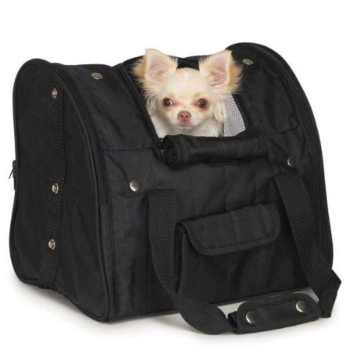 Casual Canine Nylon BackPack Pet Carrier, Black, My Pet Supplies