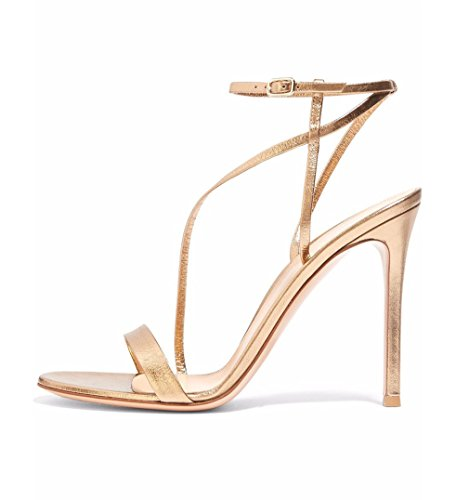 Or Sexy Dames Ouverts À CLOVER E46 Gold EU43 Couleur Aiguille A Talon PU Filles Orteils Hauts Femmes Sandales Chaussures Talons Cour Noir E34 LUCKY wxqTA0SY0