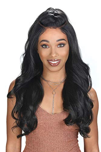 Zury Sis Beyond Moon Part Synthetic Lace Front Wig - FAB (1B) (Hollywood Sis Synthetic Lace Front Wig Natural)
