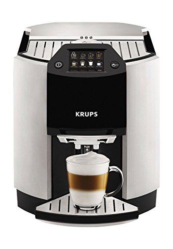 - KRUPS EA9010 Fully Auto Cappuccino Machine Espresso Maker, Automatic Rinsing, Two Step Milk Frothing Technology, 57 Ounce, Silver
