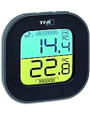 TFA Dostmann trådlös termometer FUN, 30.3068.01, svart
